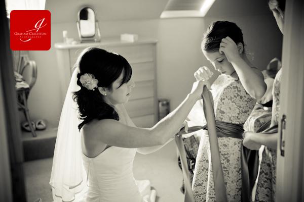 wedding prep photographs