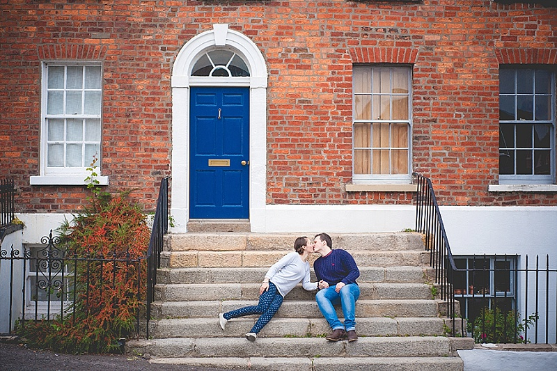 Engagement shoot in Hillsborough near the Castle