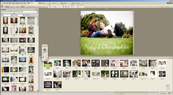 How do we put together wedding albums