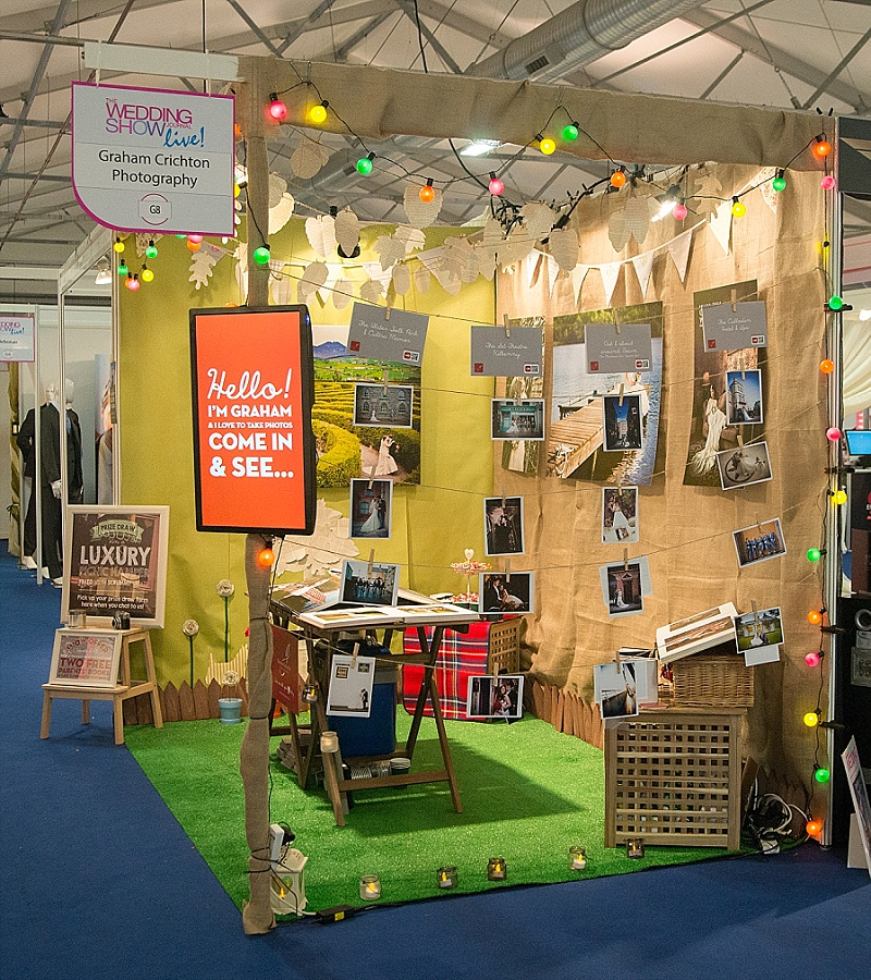 Quirky wedding fair stand