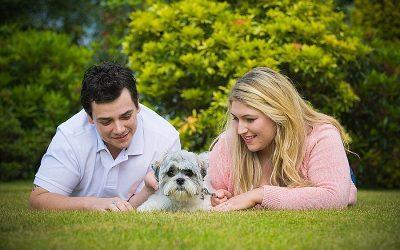 Casual Summer Garden Engagement: Victoria & Simon