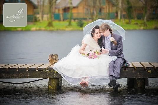 Lusty Beg Island Rainy wedding