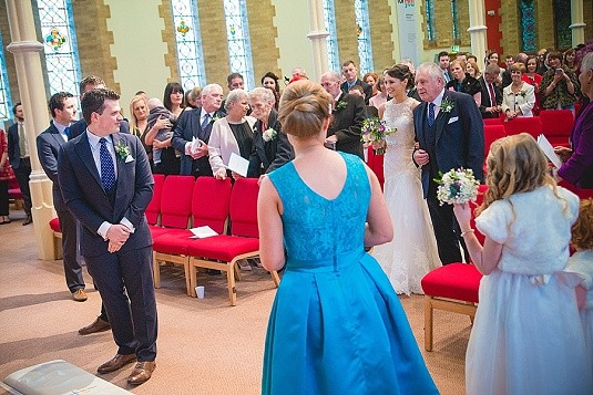Willowfield Parish Church East Belfast Winter Wedding