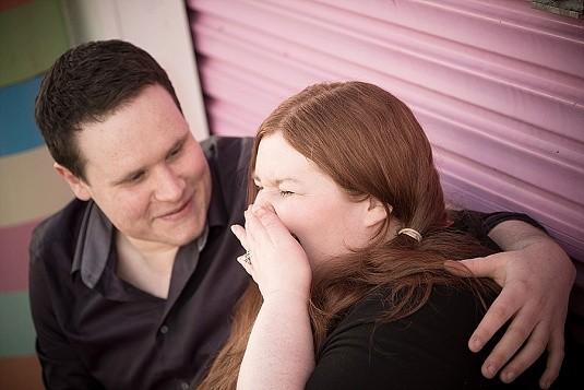Funfair engagement shoot at Barry's Amusements Portrush