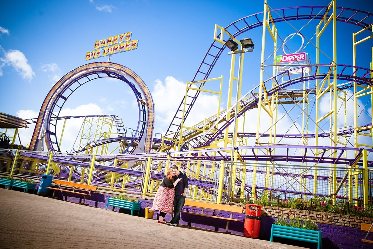 Funfair engagement at Barry's Fair Ground in Portrush