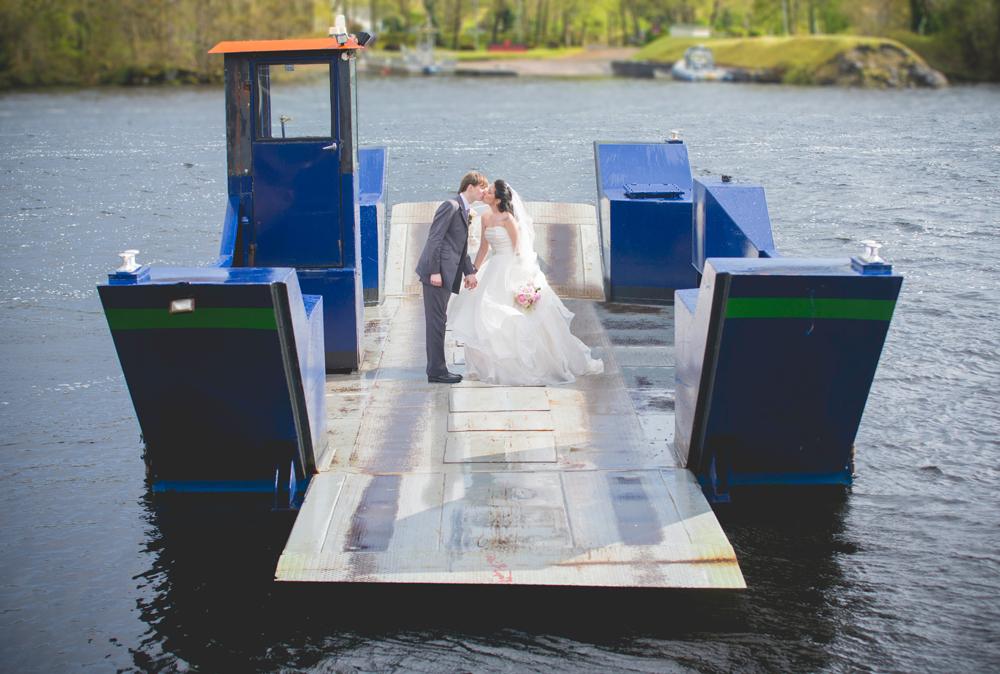 Wedding on a ferry