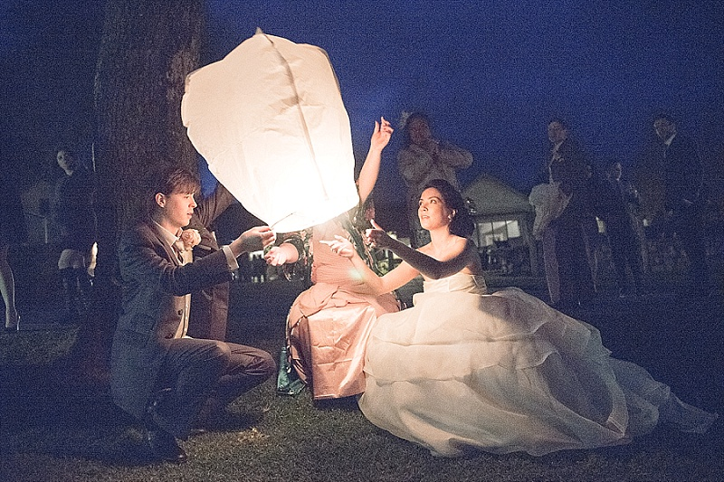 Asian inspired wedding with Chinese lanterns
