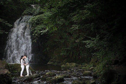 Glenoe Waterfall Evening Engagement