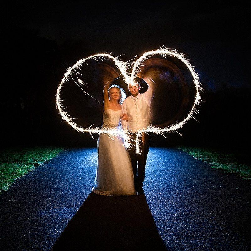 Bride and Groom Sparkler Heart