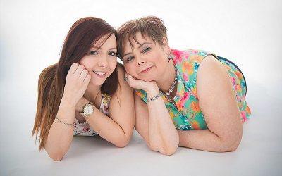 Mother and Daughter Studio Portrait Session: Michelle & Caroline