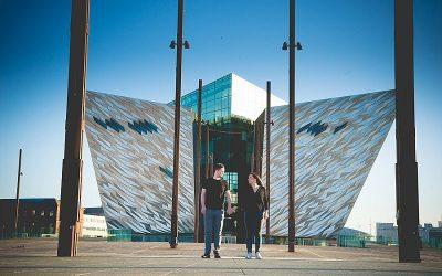 Dusk Titanic Quarter Engagement: Rachael & Louis