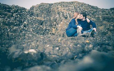 Sandy Ballintoy Harbour Engagement: Naomi & Jonathan