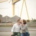 Chilly Autumn Titanic Quarter Engagment shoot: Fiona & Adam
