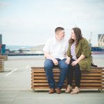 Summer Evening Titanic Quarter Belfast Engagement: Lisa & Connor