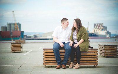 Summer Evening Titanic Quarter Belfast Engagement: Lisa & Connor