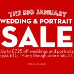 The Big January Wedding & Portrait Sale - Now On!
