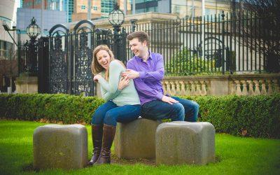 Winter Urban Belfast City Centre Engagement: Rory & Rachel