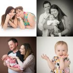 Collage of family portraits
