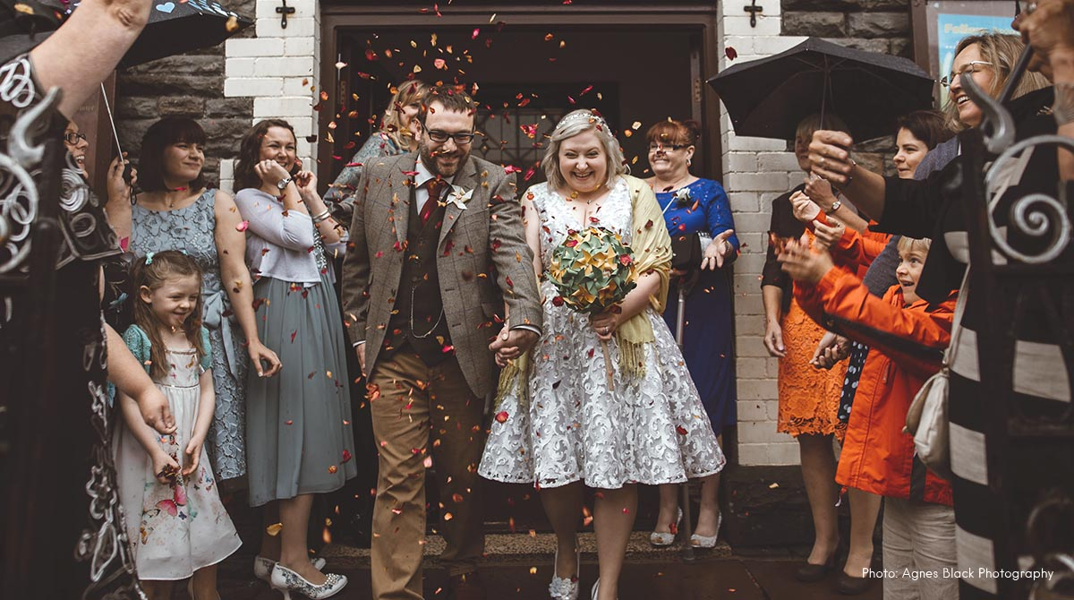 Northern Ireland photographer and wife on their wedding day