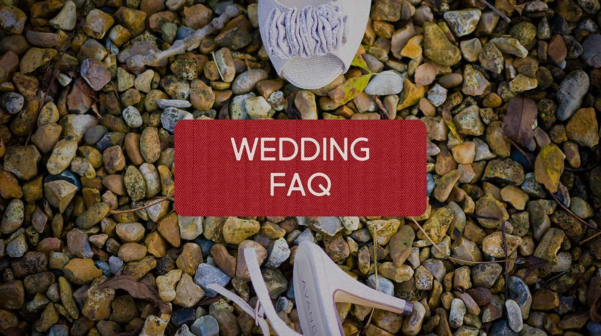 FAQ about wedding photography