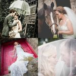 Collage of wedding couples