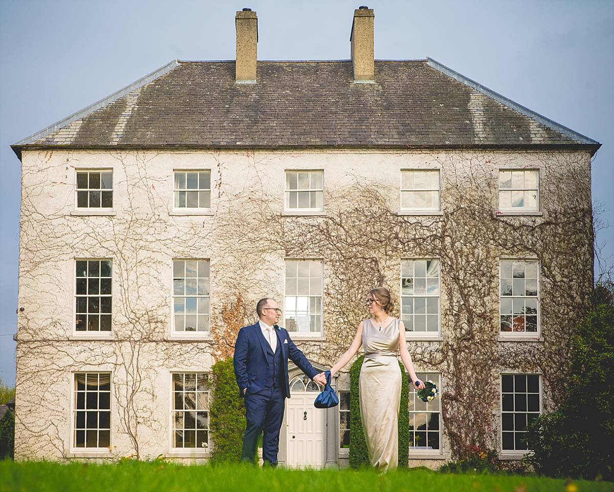Bride and Groom at Country house