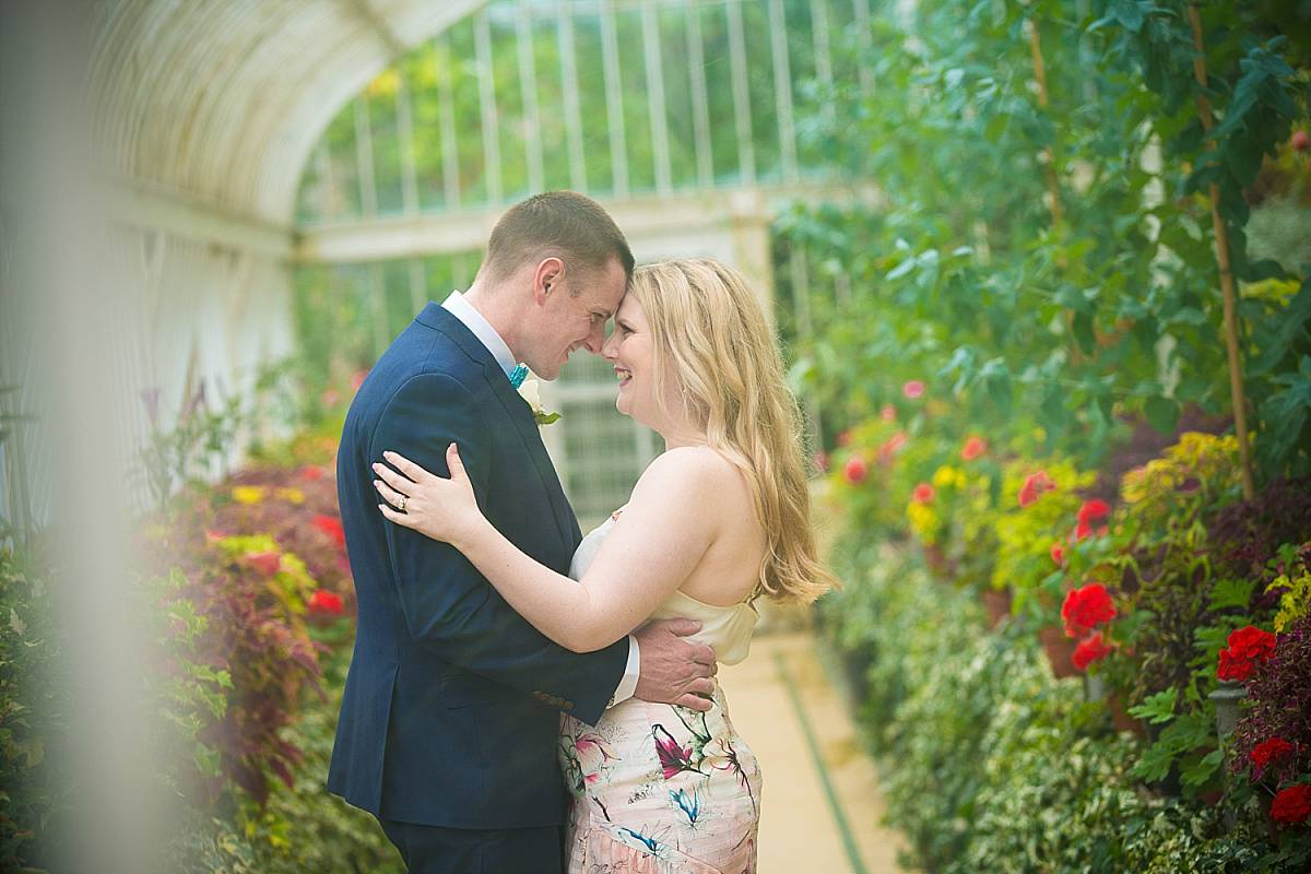 Couple in Greenhouse at Botanic Gardens Belfast