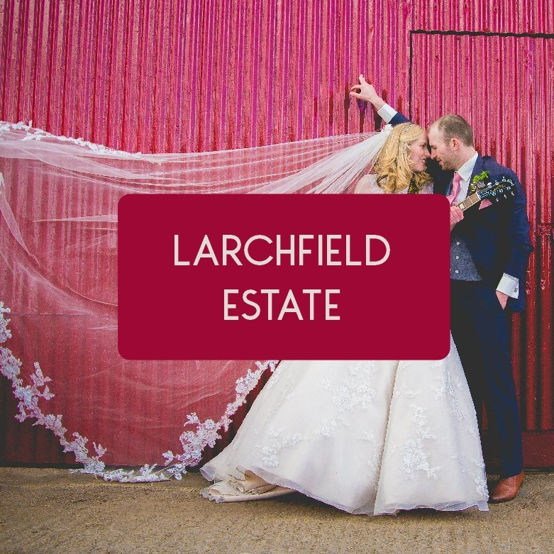 Colourful Larchfield Estate Wedding