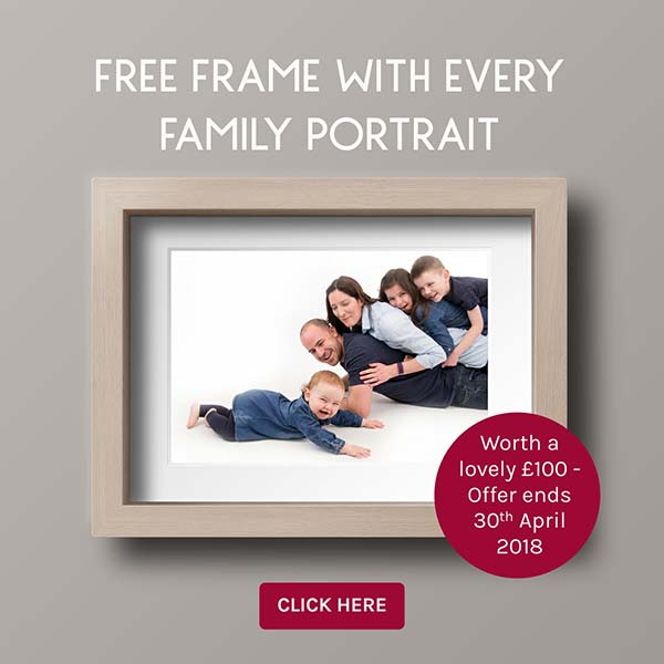 Free Frame with Every Family Portrait Offer