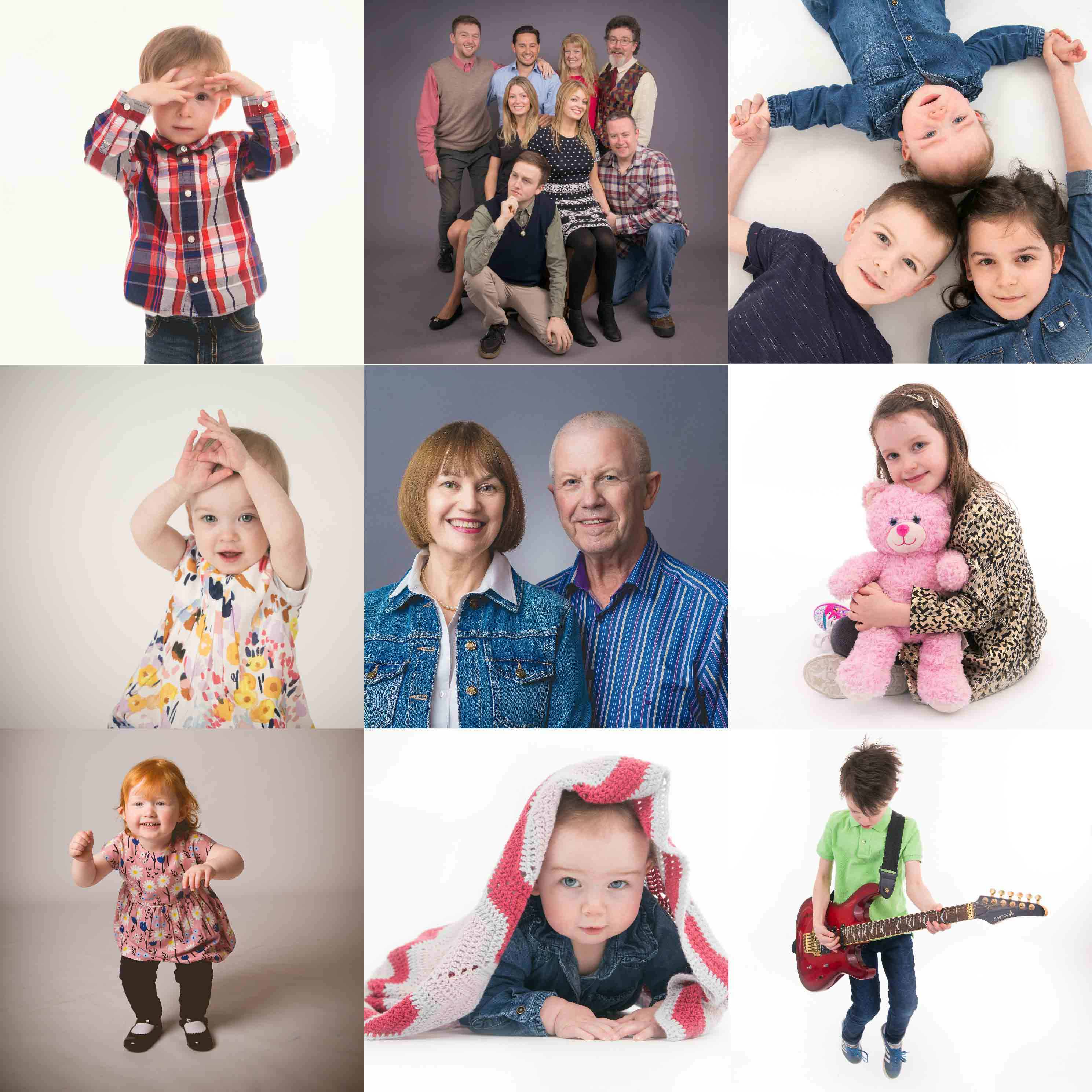 Family portraits including children portraits in Belfast