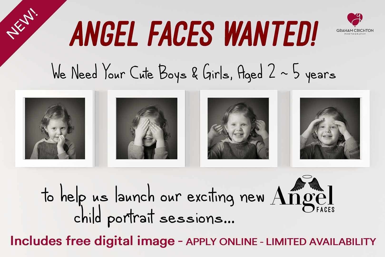 Angel face child portraits Belfast
