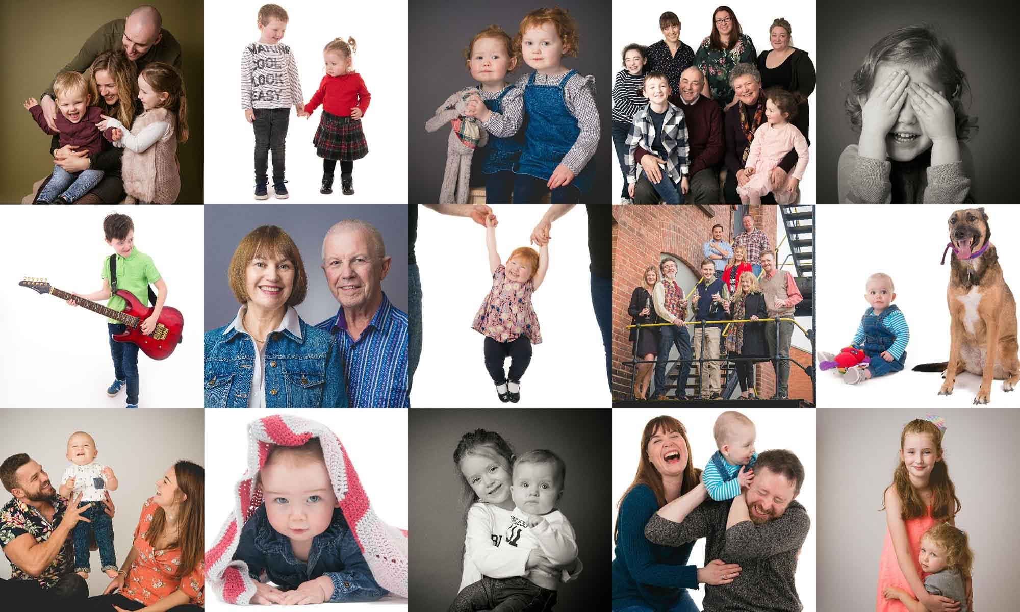 Family portraits including children portraits in Belfast