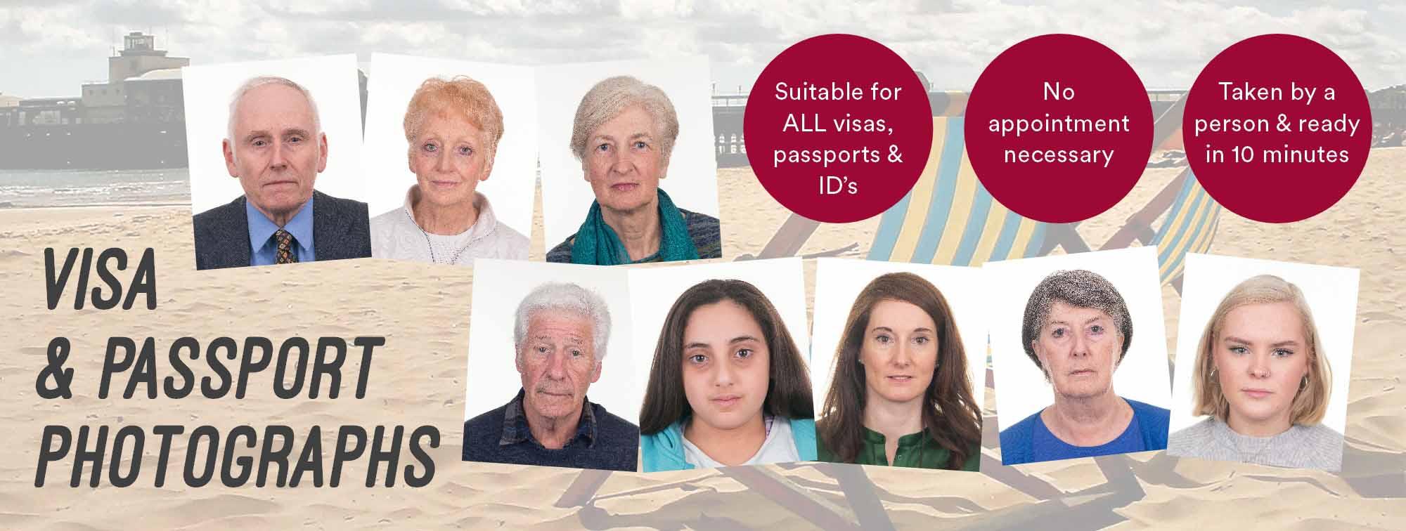Professional Passport/Visa Photographs - Taken by a Real Photographer