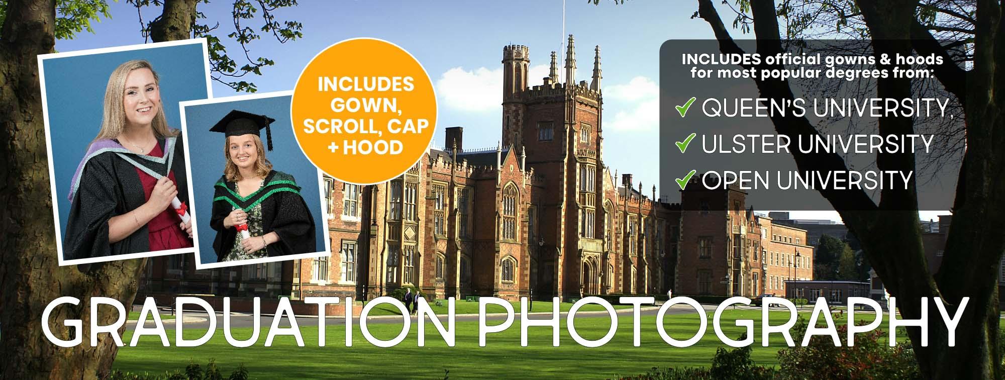 Graduation Photography for Queen's University Belfast, University of Ulster and Open University