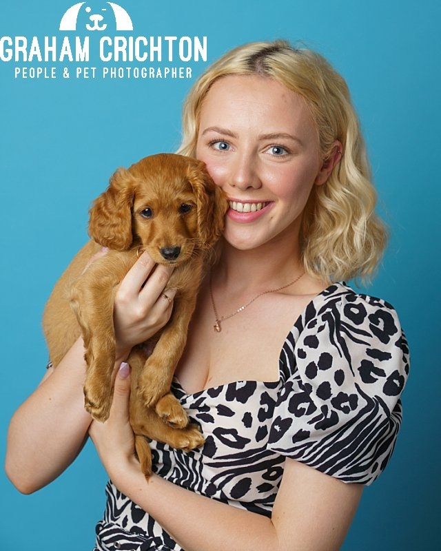 Blu and Alex- Puppy and Owner
