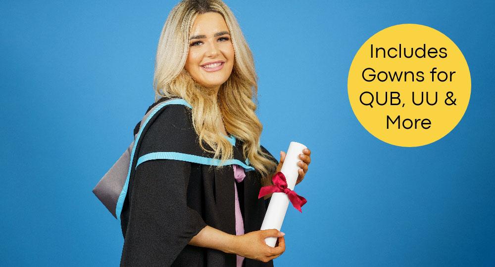 Graduation photos including gowns