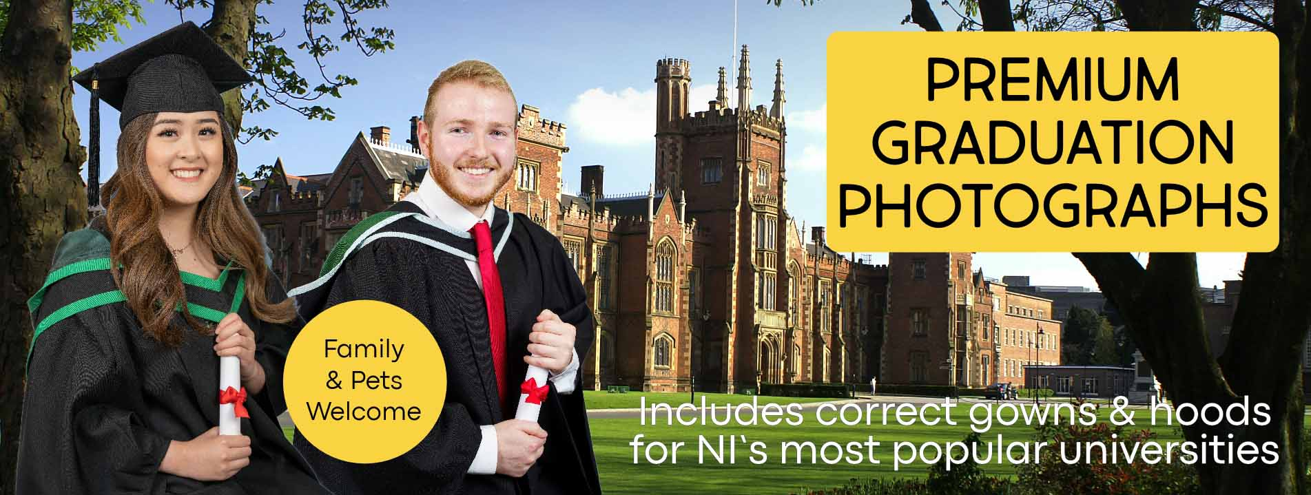 Official-style University Graduation Photographs without the hassle